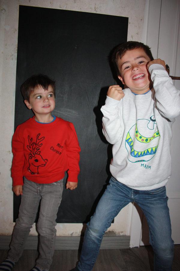 Kerstsweater voor kids Max en Lou